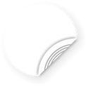 Picture of White NFC Sticker, 25mm, NTAG203 - SALE