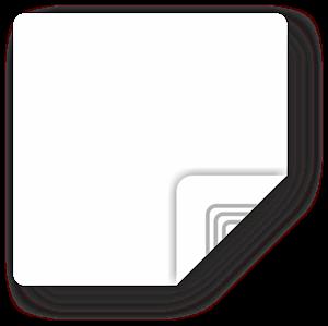Obrázok pre výrobcu White Square Sticker, 35mm, Ultralight