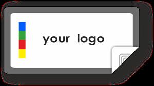 Picture of Custom Logo Rectangle Sticker Border