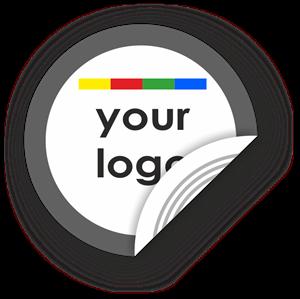 Obrázek Kruhový štítek s vlastním vzhledem a okrajem, NTAG, 40mm