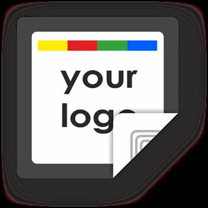 Picture of Custom Logo Square Sticker Border
