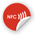 Picture of NFC sticker 35mm with text, more colors