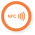 Picture of NFC sticker 50mm with border, more colors