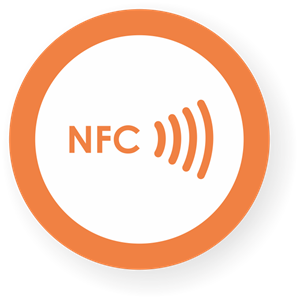 Obrázok pre výrobcu NFC sticker 50mm with border, more colors