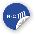 Picture of NFC sticker 50mm with text, more colors