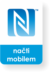 Picture of Small rectangle NFC sticker with the N-Mark graphics