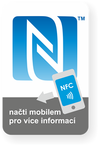 Obrázok pre výrobcu Big rectangle NFC sticker with the N-Mark graphics