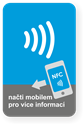 Obrázok pre výrobcu Big rectangle NFC sticker with the NFC Wave graphics