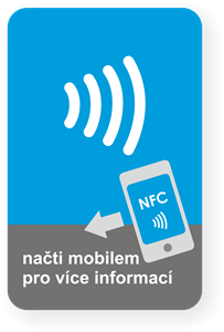 Picture of Big rectangle NFC sticker with the NFC Wave graphics