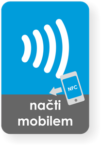 Picture of Medium rectangle NFC sticker with the Wave graphics