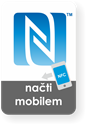 Obrázok pre výrobcu Medium rectangle NFC sticker with the N-mark graphics