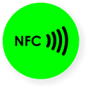 Picture of NFC sticker 50mm neon, more colors
