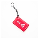 Picture of Hang tag with NFC logo Rectangle shape Red