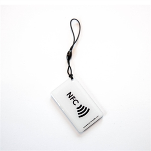 Obrázok pre výrobcu Hang tag with NFC logo Rectangle shape White