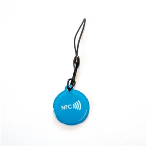 Picture of Epoxy keyfob with NFC logo Round shape Blue