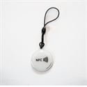 Picture of Epoxy keyfob with NFC logo Round shape White