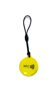 Picture of Epoxy keyfob with NFC logo Round shape Lime