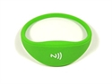 Picture of Comfortable universal silicone NFC wristband - Green