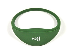 Picture of Comfortable universal silicone NFC wristband - Dark Green