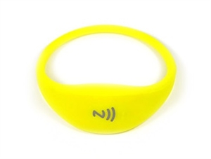 Picture of Comfortable universal silicone NFC wristband - Yellow