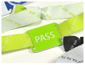 Obrázek Kvalitní textilní jednorázový NFC náramek - Zelený