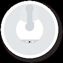 Obrázek Transparentní NFC štítek, 25mm, NTAG213