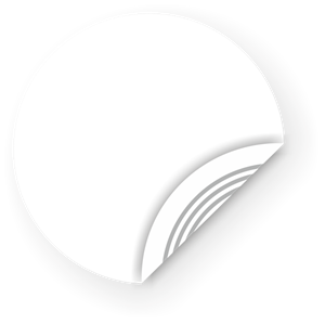 Picture of White NFC Sticker, 25mm, Ultralight