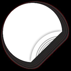 Obrázek Bílý NFC štítek, 25mm, Ultralight