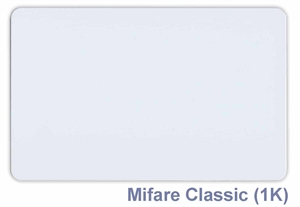 Obrázek NFC bezkontaktní karta bílá - Mifare Classic 1K