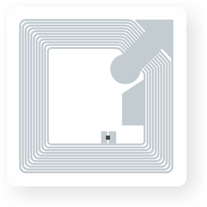 Picture of Transparent NFC Square Sticker, 35x35mm, NTAG213