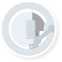 Obrázok pre výrobcu Transparent Round Sticker, 30mm, Mifare 1k Classic